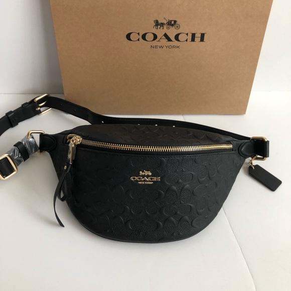 510a7875fd Authentic Coach Fanny Pack ( Belt Bag) Black NWT NWT